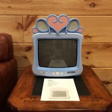 "DISNEY CINDERELLA PRINCESS BLUE 13"" COLOR TV DT1350-CIN W/ MANUAL"