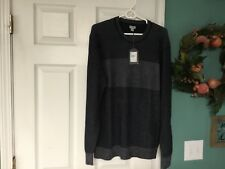 Men's ASHWORTH Golf Crewneck NAVY Sweater Size Large (CON4)