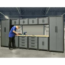 Professional Mechanics 11 Pieces works Modular Steel Cabinet Garage Tool Storage