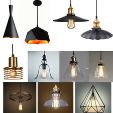 Retro Hanging Lamp Loft Iron/Glass Chandelier Pendant Dining Light For E27 Bulb