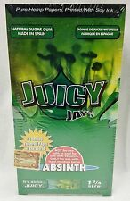 1 Box Juicy Jay'S 1 1/4 Rolling Papers Absinth24 Packs Free Shipping