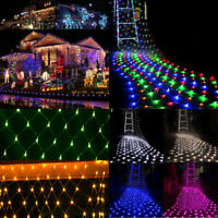 96-880 LED String Fairy Lights Net Mesh Curtain Xmas Wedding Party Outdoor Lamp
