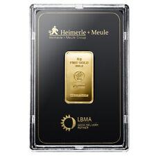 Goldbarren 5 Gramm im Blister Heimerle + Meule