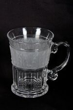 Crystal Clear Industries ATHENS Frosted Acanthus Leaf Glass Mug/s (loc-oak)