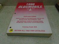 Oldsmobile Parts Illustrate Catalog Used Manual VP 1990 VP-CM114