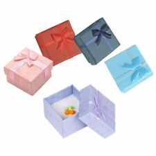 5PCS Paper Package Bowknot Jewelry Necklace Bracelet Earring Ring Gift Box M6E3