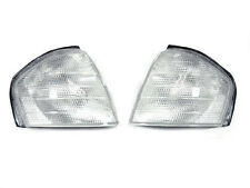 Euro Style Clear Corner Signal Light Pair For 1994-00 Mercedes Benz C Class W202
