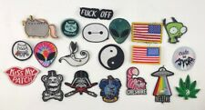 Iron On Patches(20) Used Lot Funky Cool Fun Weird