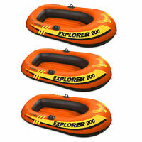 Intex Explorer Pro 200 Inflatable Youth Pool Boat Raft (Raft Only) (3 Pack)
