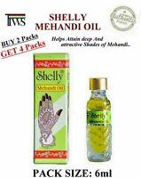 Shelly Mehndi Henna Oil 6ml Darkening Body Art Tattoo BUY 2 GET 4 @ $1.97 each