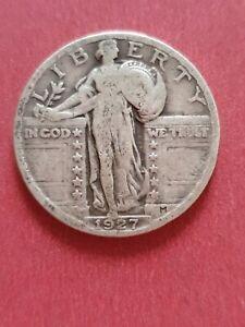 1927 USA Quarter Dollar Standing Liberty 25c  (900 Silver)