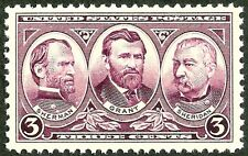 1937 OLD USA STAMP us civil war ulysses s grant,sherman, sheridan MINT xtra fine