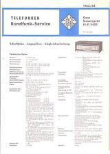 Telefunken Service Manual für Opus Steuergerät HiFi 2430