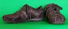 Womens GEOX Respira Brown Suede Leather Lace Up Sneakers Shoes 5 US 35 EUR 4 UK