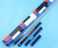 3/4 Snooker Cue 3 4 Handmade Pool Maple Dark Burl Cues Set and Case Extension