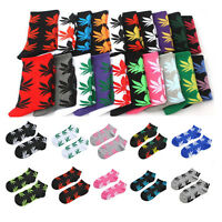 Fashion 1Pair Wome&Men Maple Leaf Short Cotton Sport Weed Leaf Socks Ankle Sock