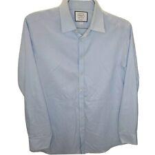 Charles Tyrwhitt Men's Extra Slim Fit Non-Iron Twill Shirt Blue 16.5/36