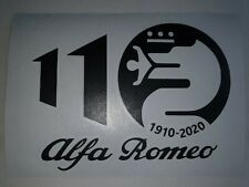 Alfa Romeo 110 Year Celebration Vinyl Decals & Windows Sticker 159 147 Giulia