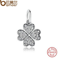 Authentic S925 Sterling Silver Symbol Of Lucky In Love Cz Charms Fit P Bracelet
