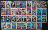 1989 Topps New York Mets Team Set of 37 Baseball Cards W/ Traded
