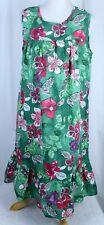 Tropical Muumuu Floral Pullover Hawaiian Caftan Dress Size Med Anthony Richards