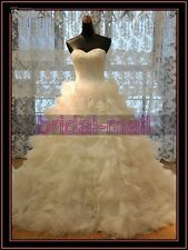White/Ivory Lace Wedding Dress Bridal Gown Custom size 8-10-12-14-16-18-20++