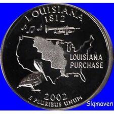 2002 S Clad Louisiana State Quarter Deep Cameo Gem Proof No Reserve