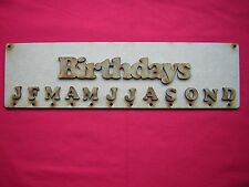 4 BIRTHDAY PLAQUES & LETTERS 36cm x 10cm / 360mm x 100mm- LASER CUT MDF