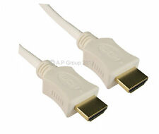 10m LONG HDMI Cable High Speed with Ethernet 1.4 GOLD WHITE Full HD 4K 3D TV ARC