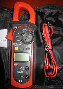 Digital Clamp Meter 1999 Manual Range ACA ACV DCV Resistance UT200A