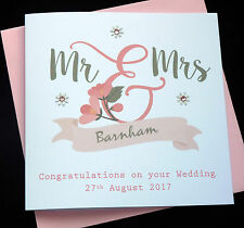 Handmade Personalised Wedding Card / Mr & Mrs / Mr & Mr / Mrs & Mrs