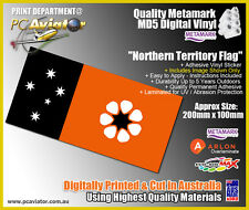 Northern Territory Flag Laminated Sticker - Car, Truck, Glass, Caravan, Boat
