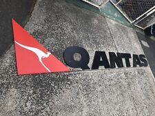 Qantas Genuine Timber Sign Vintage