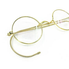 Vintage Reaing Glasses Small Round 44mm Antique Flexible Wire Rim Men Women