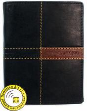 Friedrich 23 NFC/RFID-Datenschutz Ledergeldbörse Hochformat Schwarz 16052-2