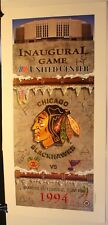 "1994 Chicago Blackhawks Inaugural Game United Center 27 1/2 x 13 1/2"" Poster NHL"