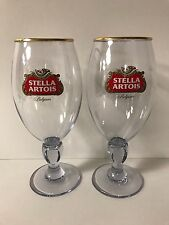 Stella Artois Acrylic 33 cl Chalice Glass BELGIUM Beer ~ Set Of Two (2) ~ NEW