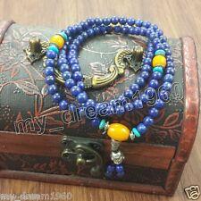 Exquisite Beautiful 108 Lapis lazuli Prayer Beads Mala Ward off evil necklace