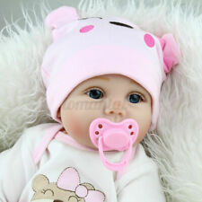 22'' Handmade Silicone Vinyl Reborn Baby Doll Realistic Newborn Girl Kids To