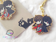 Golden Acrylic straps charm: Persona 5 Joker Crow Akechi Game
