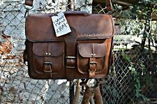 Bag Leather Vintage Shoulder Purse Crossbody Brown Tote Large Brown Handbag New