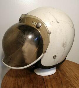 Vintage BUCO Blue Line GT Motorcycle Helmet 1974 Bubble Shield