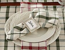 Napkin - Fireside in Green by Park Designs - Christmas Holiday - Green Ivory