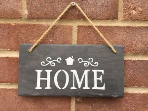 Real Slate Home Plaque Hanging Sign Home Decoration Gift House Rustic Chic