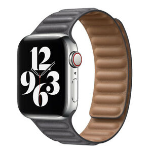 For Apple Watch Leather Link Band Magnetic Strap iWatch Series 6 5 4 3 2 40/44mm