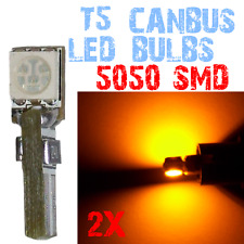 2 LED-lampen T5 5050 Dashboard Gereedschap Auto interieur Interieur GEEL 4D1 4D1