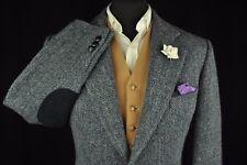 "Vintage BURBERRY'S Harris Tweed Herringbone Tailored Hacking Jacket 42"" impeccable"