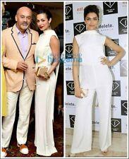 Celine Ivory Crepe Jumpsuit 100% Silk Dress BNWT UK 8 IT 40 FR 36