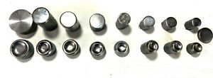 """Lot of (17) Solid Rivet Sets Lockheed 1/4"""" Shank Pneumatic Squeezer Never used"""