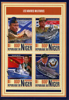 Niger 2017 MNH Military Ships Battleships Putin Trump Xi Jinping 4v M/S Stamps